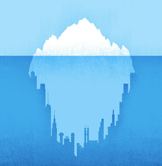 the iceberg  not the sailboat