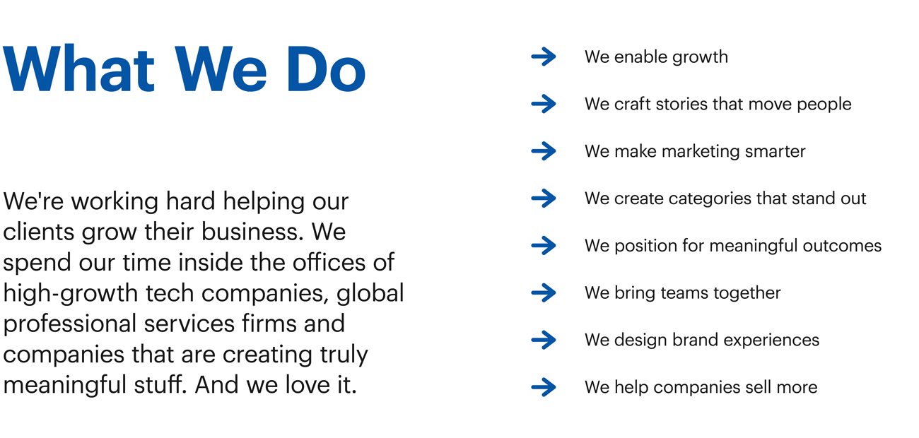 San Francisco Brand Strategy Firm What We Do