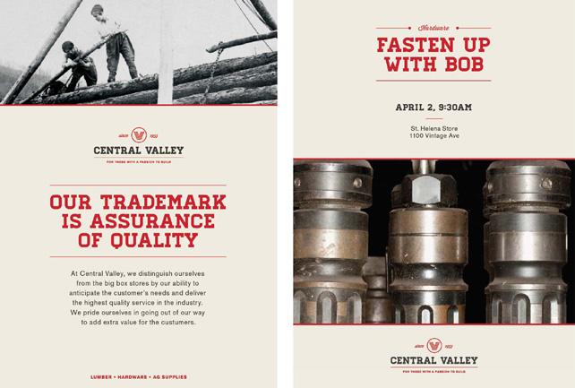 Central Valley branded materials